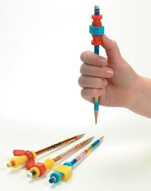 """Fidget Pencils (4 Pack) $6.99 Each of the 4 pencils has a different """"fidget"""" near the eraserhead of the pencil that can be transferred to other pencils. Stay alert by fidgeting with the wing nut, the nut and bolt, and two other fidgets."""
