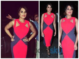 A cut out dress by Veda Raheja #RichaChadha #VedaRaheja #DesignerOutfitsOnline #GetTheLook #Stage3 #DesignerDressesOnline