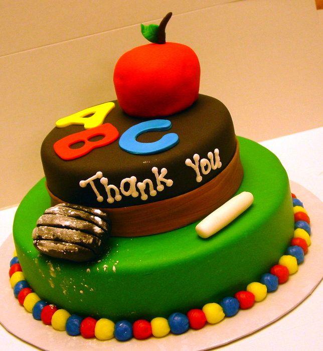 154 best Teacher Cakes images on Pinterest Teacher cakes School