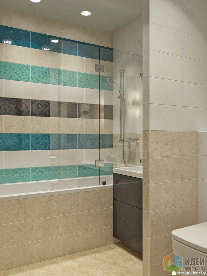Дизайн ванной комнаты с душевой 1) Плитка — MAINZU, CATANIA.