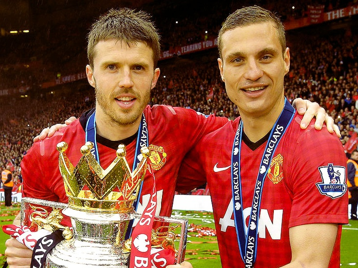 Michael Carrick and Nemanja Vidic