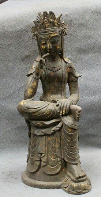 Chinese Buddhism Bronze Seat Northern Wei Buddha Dynasty Thinking Statue