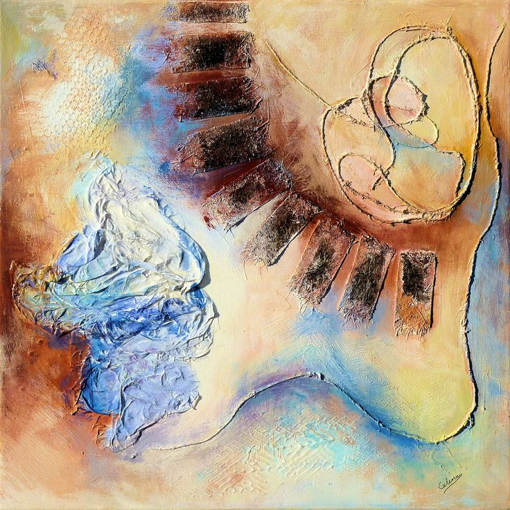 Abstract Series #2 - 3 - Small format - Acrylics & Mixed Media - by CelinaS - a member of the Hangar Artist Group (www.hangarart.org)