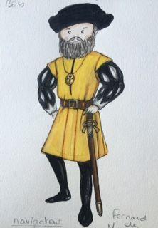 """Fernand de Magellan dans mon livre """"Voyage dans la malle du prince aventurier""""."""