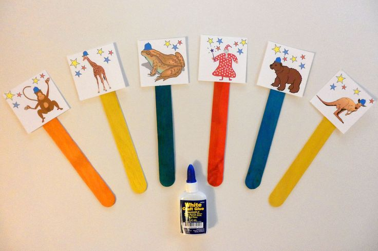 Magic Puppet Sticks - Make puppets to act out and retell the story of The Magic Hat