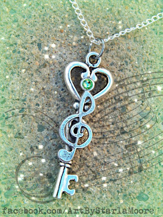 Musical Fantasy Key Peridot by ArtbyStarlaMoore on Etsy, $12.00