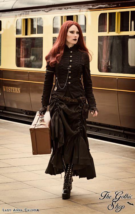 Three Way Lace-up Black Satin Skirt