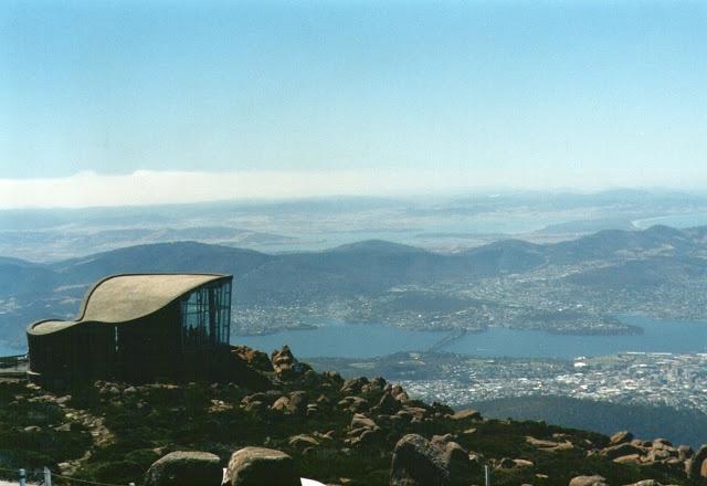 Hobart from Mt Wellington, #Tasmania, #Australia