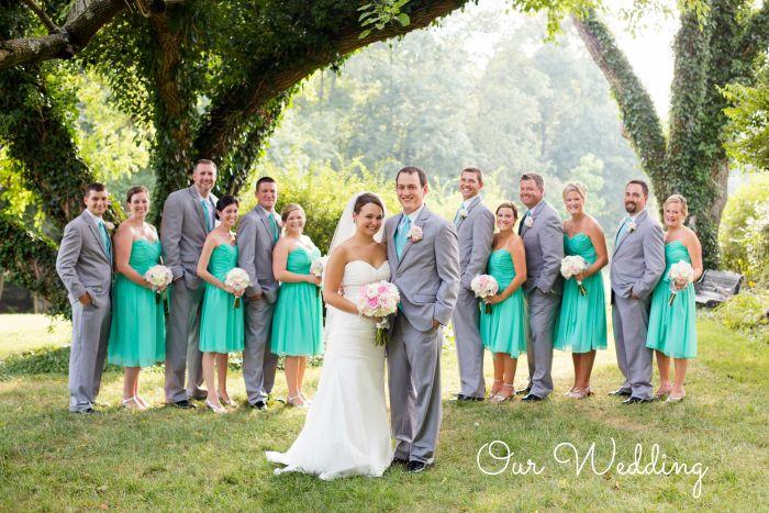 Our aqua and grey DIY vintage bird themed wedding