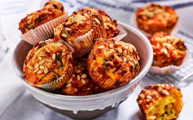 Matmuffins med cottage cheese, sötpotatis och spenat - Recept - Arla