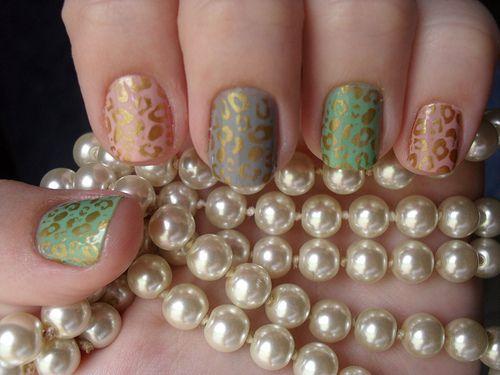 Cheetahs Nails, Nails Art, Gold Nails, Nailart, Nails Polish, Leopards Prints, Animal Prints, Leopards Nails, Cheetahs Prints