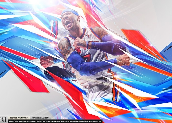 Carmelo Anthony MVP Wallpaper | Posterizes | NBA Wallpapers & Basketball Designs | Uniting NBA fans worldwide through design