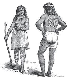 Татуировки у североамериканских индейцев хайда (по Шурцу).