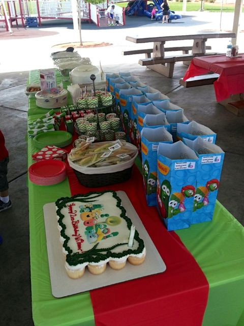 VeggieTales, Veggie Tales, red, green Birthday Party Ideas | Photo 1 of 12 | Catch My Party