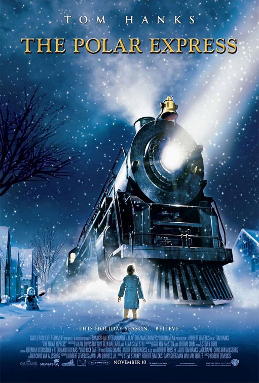The Polar Express- Tom Hanks, Chris Coppola Computer-animated Christmas fantasy film- On Christmas Eve, a doubting boy boards a magical train that's headed to the North Pole and Santa Claus' home.