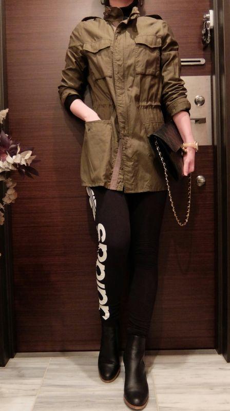 ÖKO's Coordinate Blog  Military jacket × adidas     sports mix