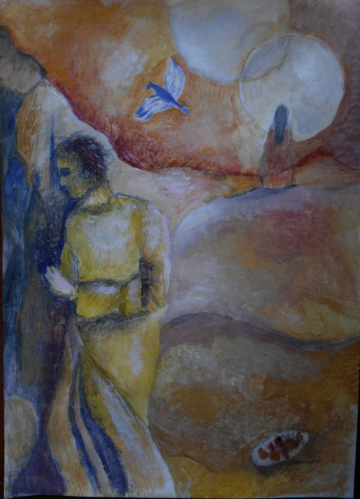 Majnun gouache and watercolor on canvas sheet.
