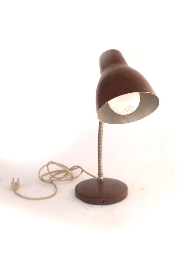 Brown Gooseneck Task Lamp Flea Pop