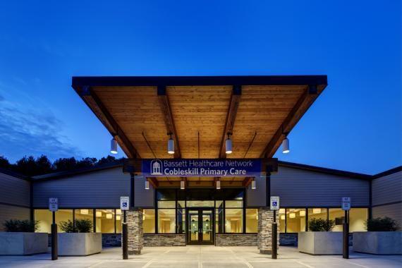 Photo tour cobleskill medical office building for Modern hospital building design