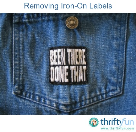 Removing Iron On Labels And Patches Cleaning Anything Pinterest