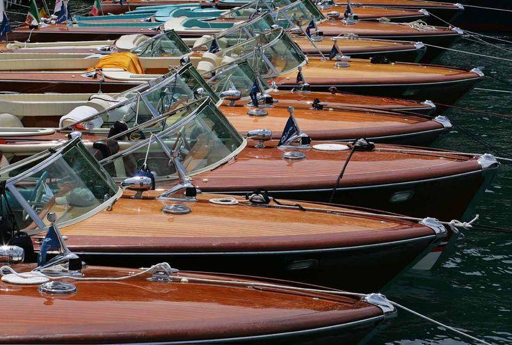 Riva boats - the nautical equivalent of an Aston Martin - pure class.
