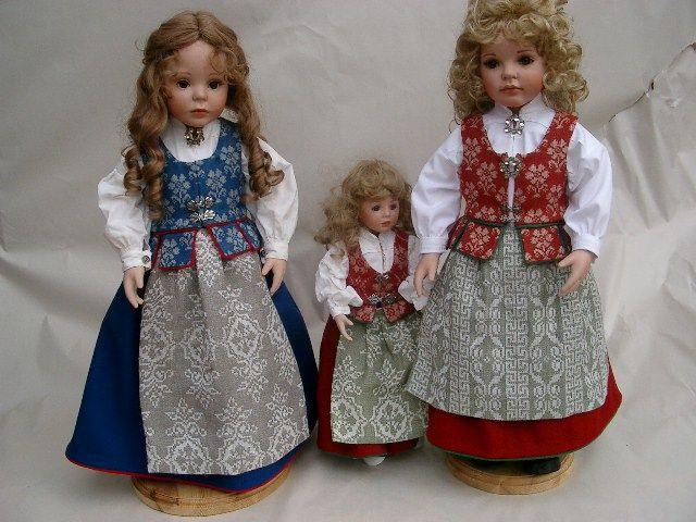 Dollmaker Brit-Candy and Danielle-Trønder bunad