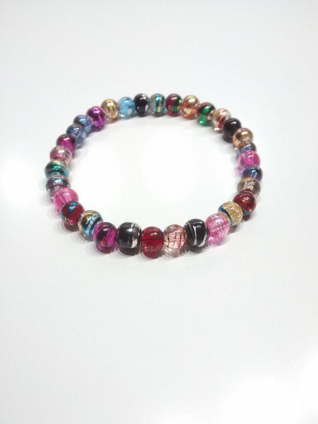 Armband Glasperlen ca 18cm mehrfarbig