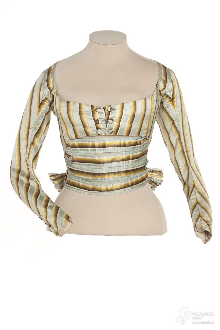 Bodice, 1787-95 From Les Arts Décoratifs via Europeana Fashion