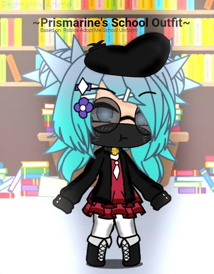Prismarine S School Outfit Based On Roblox Adopt Me School Uniform Adoption Anime Roblox