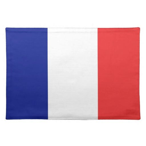 France flag place mat