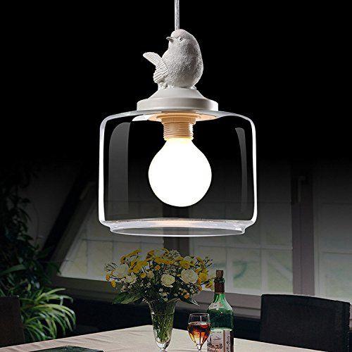 LFNRR Nordic American bar ristorante terrazza bambini Village Cafe singolo uccello vetro ciondolo lampada senza luce