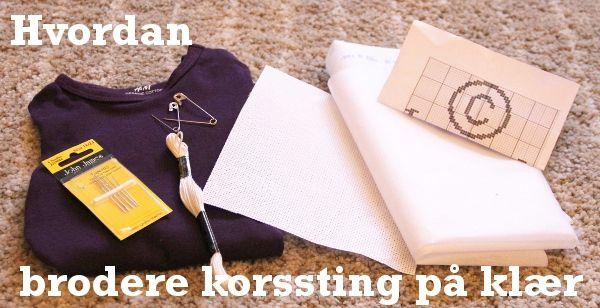 Korssting på klær DIY