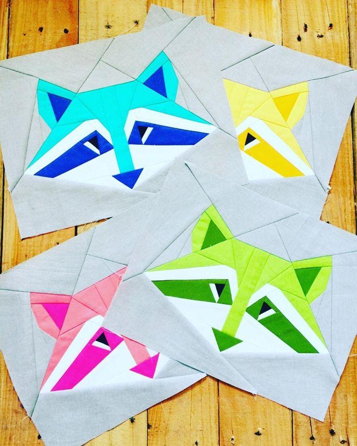 Bandit Raccoon Foundation Paper Piecing Pattern Craftsy Paper Pieced Quilt Patterns Foundation Paper Piecing Foundation Paper Piecing Patterns
