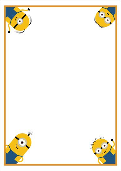 Minion Writing Paper | Minion Notepaper | Free EYFS & KS1 Resources