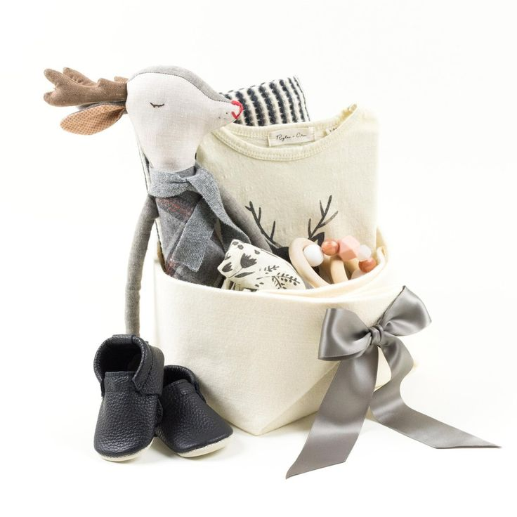 This Luxury Baby Gift Basket is just adorable ! - Oh Deer! – Bonjour Baby…
