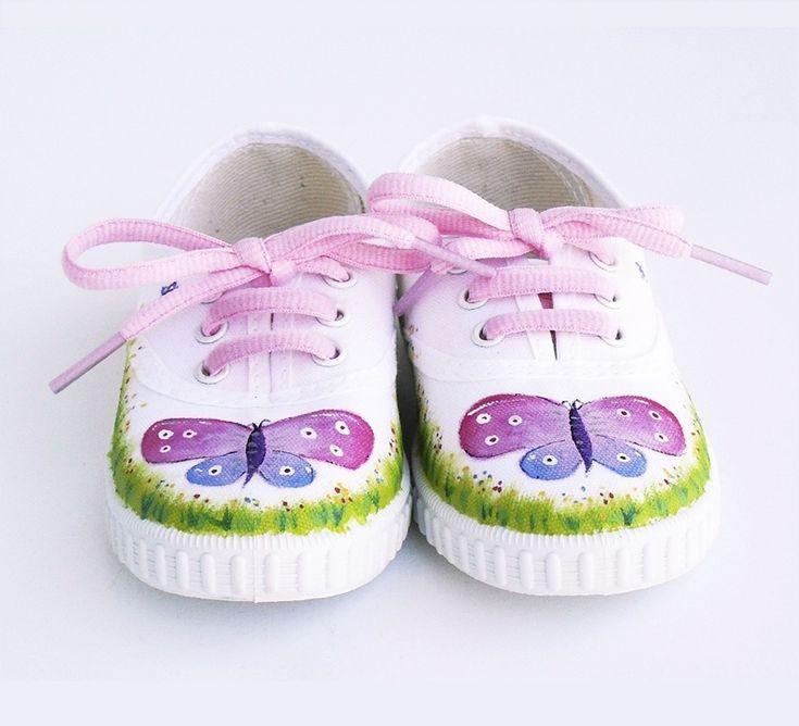zapatillas pintadas bebe - Buscar con Google