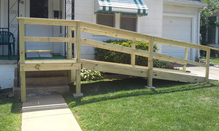 Best Small Front Porch With Wheelchair Assess Wooden Porch 400 x 300
