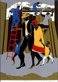 Builders // Jacob Lawrence. Harlem Renaissance