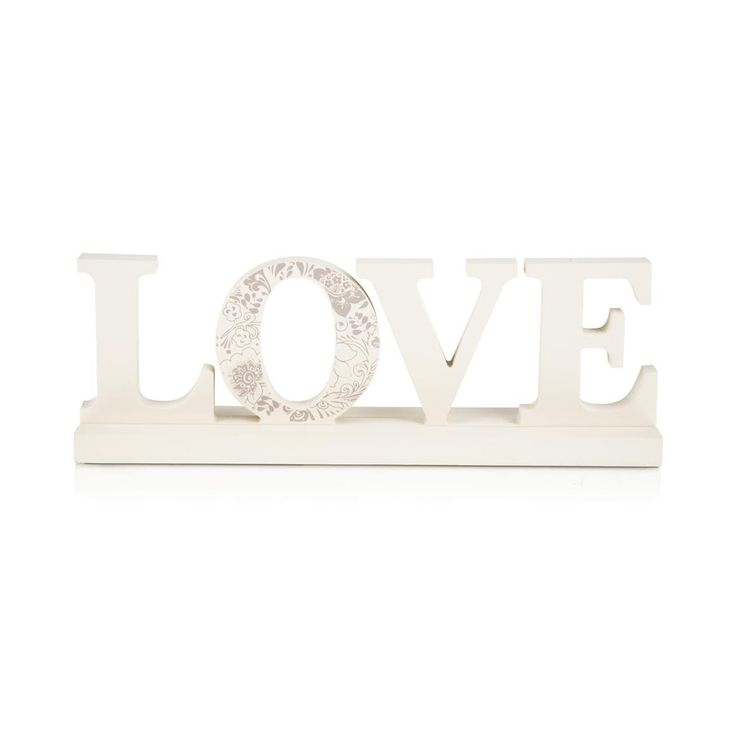 'Love' Wooden Ornament