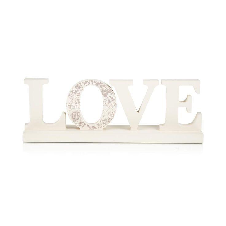 'Love' Wooden Ornament