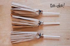 Cute broom lollies