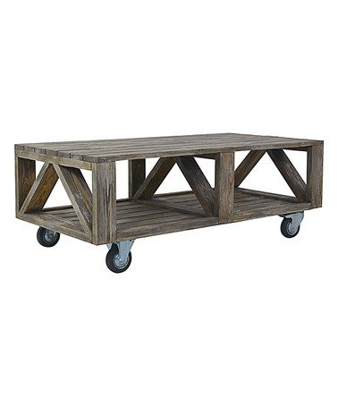 Industrial Coffee Table #zulily #zulilyfinds