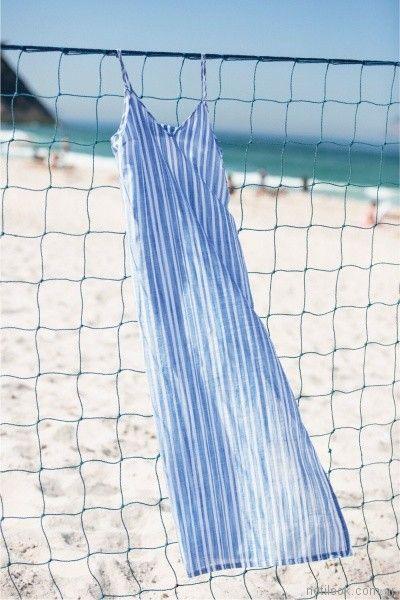 vestido a rayas de lino Tucci primavera verano 2018 | Noticias de Moda Argentina