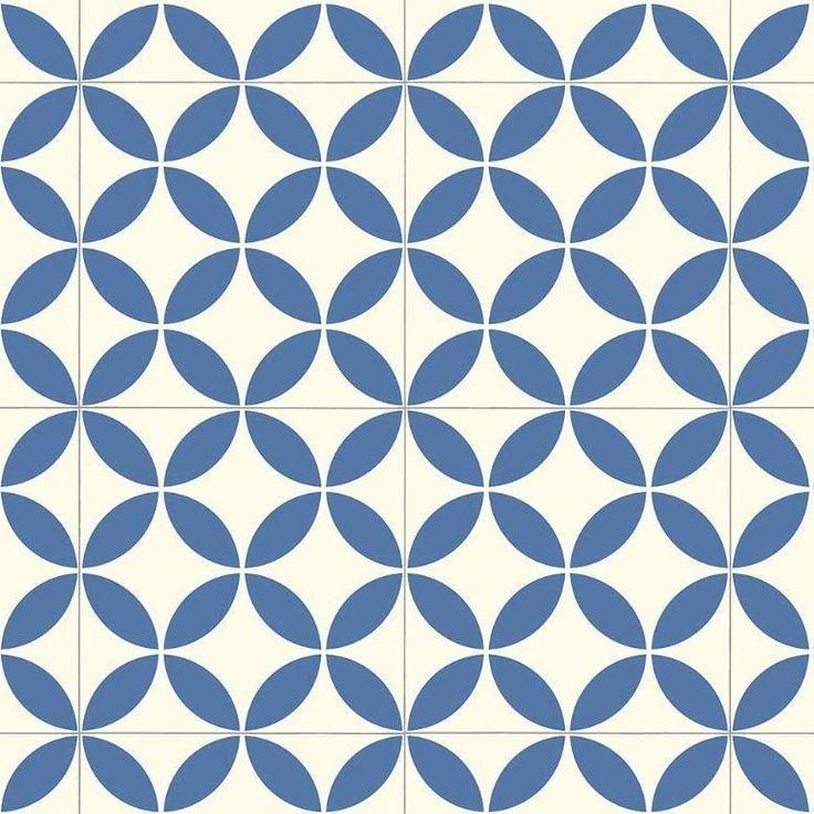 Victorian Ceramic Tile Effect Cushion Vinyl Flooring Sheet - Kensington