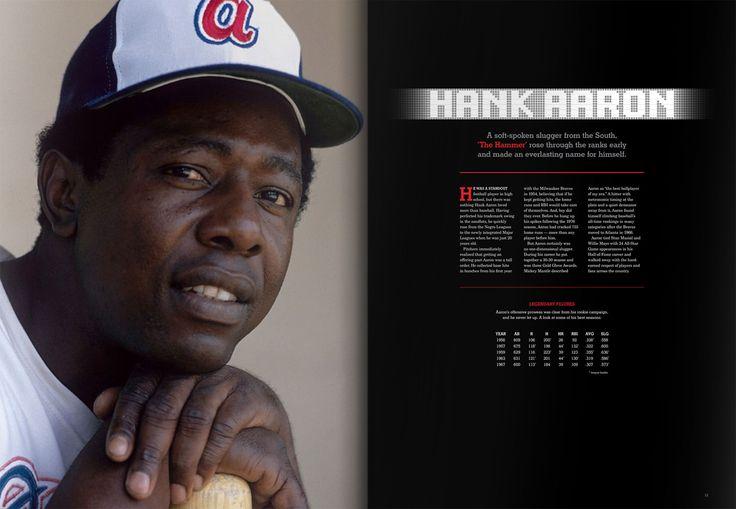 Hank Aaron Profile #MLB #baseball #book #design