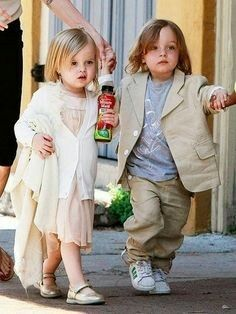 Knox and Vivienne Jolie-Pitt, Brad and Angelina's twins