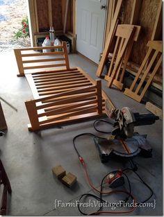 bench crib repurpose project, painted furniture, repurposing upcycling