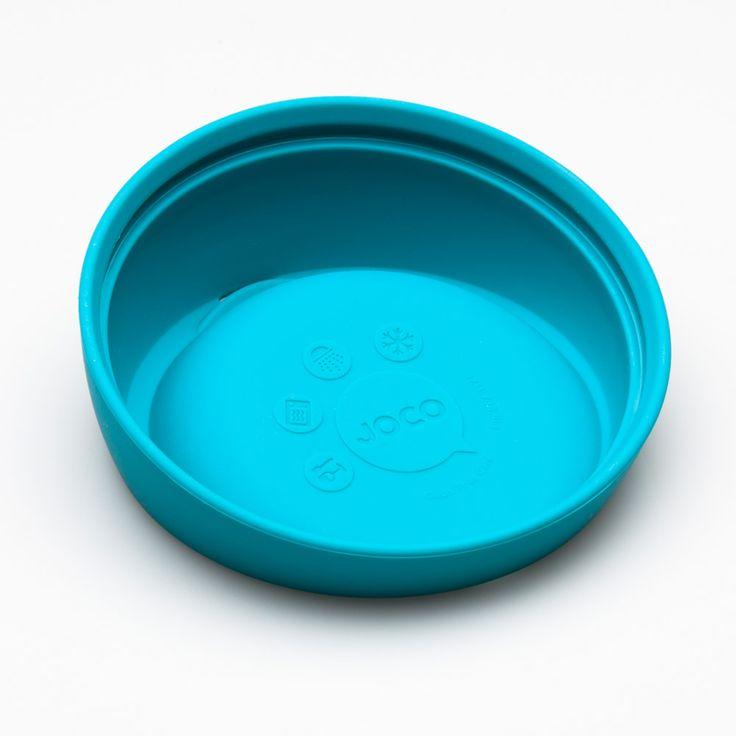 Gobelet réutilisable en verre de couleur bleue. En vente sur L'emballage Vert!