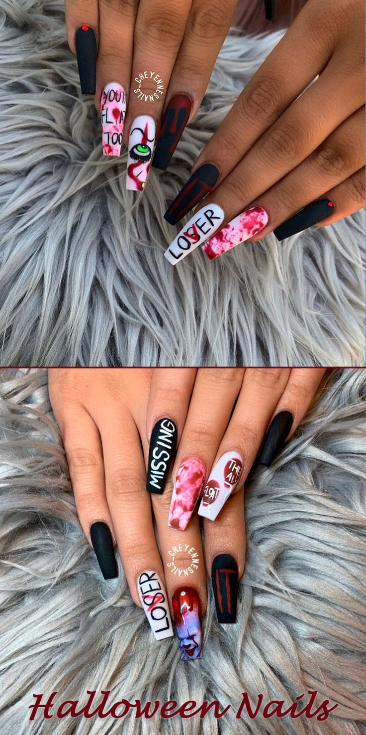 Best Halloween Nail Ideas in 2019 | Coffin shape nails ...