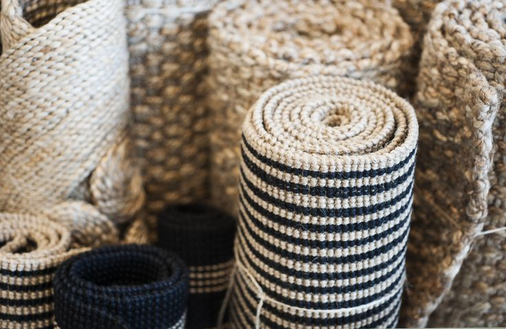 Natural fibre Jute mats and rugs.